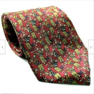 Jos A Bank Collection Men Golf Tie All Over Print
